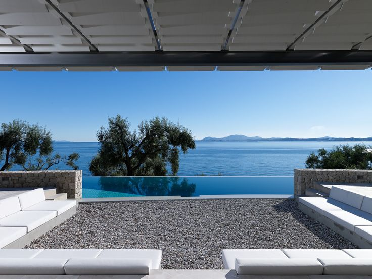 Vacation House by Zoumboulakis Architects in Corfu, Greece. Photo by Vangelis Paterakis
