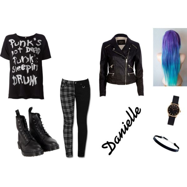 punk by larry69czech on Polyvore featuring R13, River Island, Dr. Martens, MARC BY MARC JACOBS and DKNY
