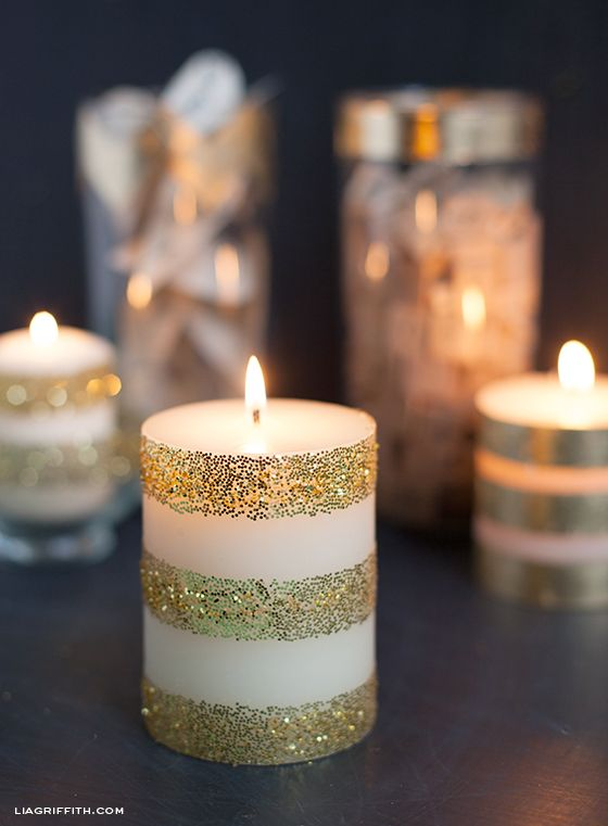 Best 25 white candles ideas on pinterest white magic spells dress up plain white candles with gold leaf glitter fandeluxe Document
