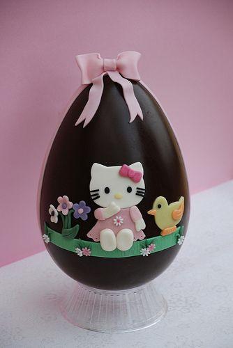 Uovo di cioccolato hello kitty-Chocolate egg hello kitty by Alessandra Cake Designer, via Flickr