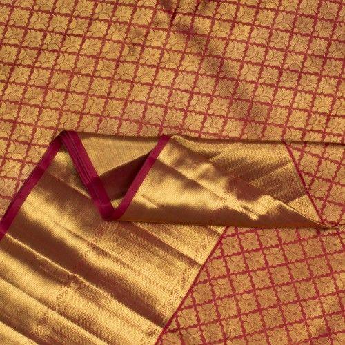 Kanakavalli Handwoven Kanjivaram Silk Sari 100100642 - Sari / Bridal Kanjivarams - Parisera