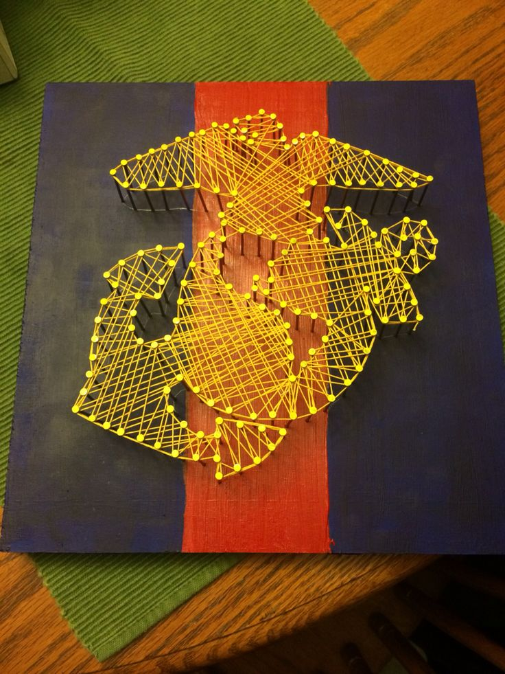 Marine string art for my marine boyfriend and his family! :)