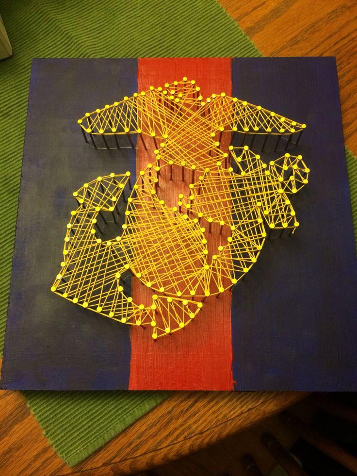 Marine string art for my marine boyfriend and his family! :)