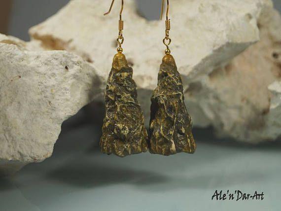 Organic earrings polymer clay earrings polymer clay jewelry