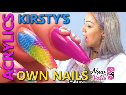 Part 1 - Kirsty Meakin does her own nails - Acrylic Set - YouTube