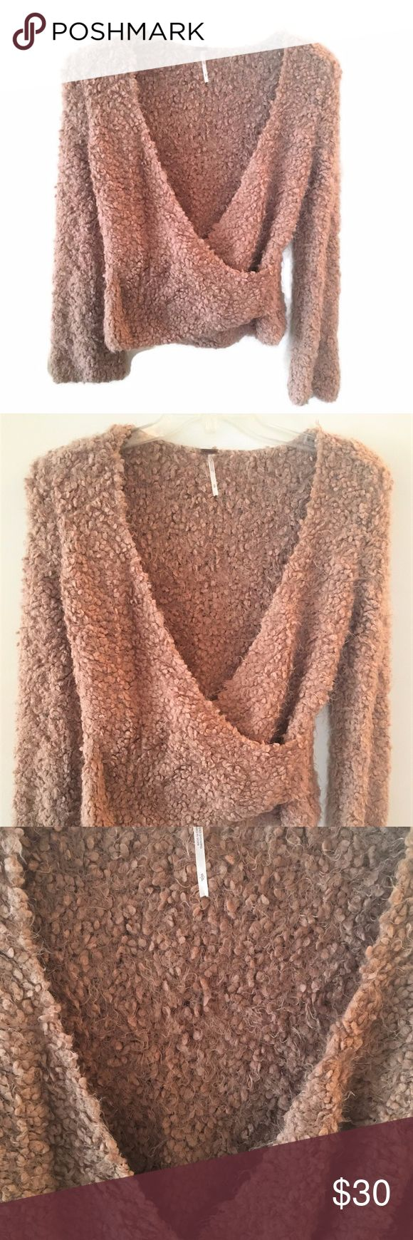 """Free People Cozy Sweater -- So Soft and Lovely TAN Free People Sweater  Soft and Cozy! Gorgeous Neutral Color Long Sleeves Looks great with Cami Size Small Petite Length: 21"""" Armpit to Armpit: 23""""  EXCELLENT Used Condition Comes from Non-Smoking Home Free People Sweaters"""