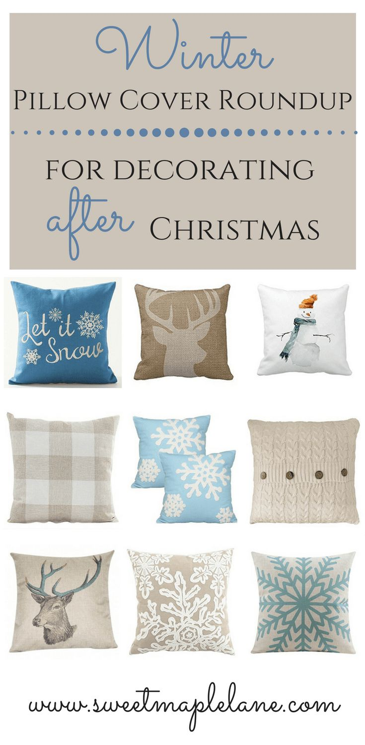 Struggling+to+decorate+after+all+your+Christmas+decorations+are+put+away?+Check+out+this+winter+pillow+cover+roundup+for+some+ideas+for+after+Christmas+decorating!