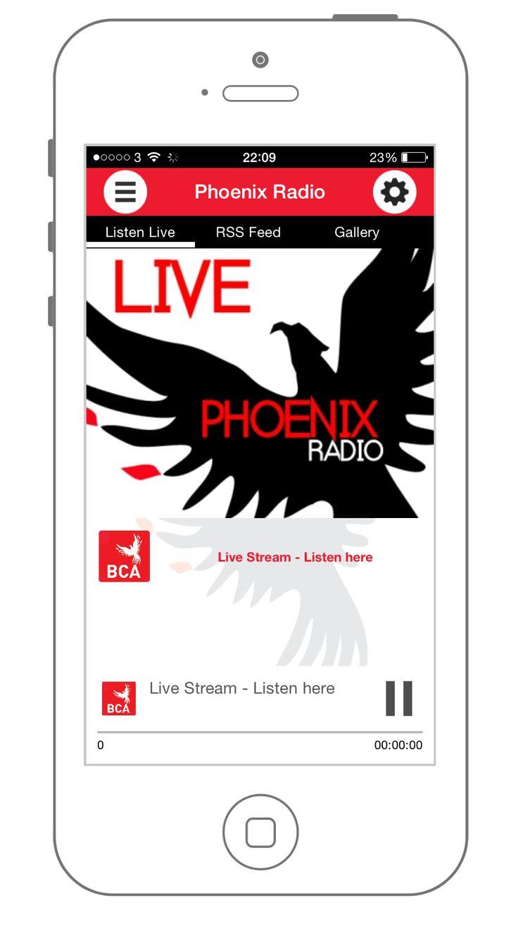 "Bath Community Academy use a section of their app to stream their very own radio station, ""Phoenix Radio""."
