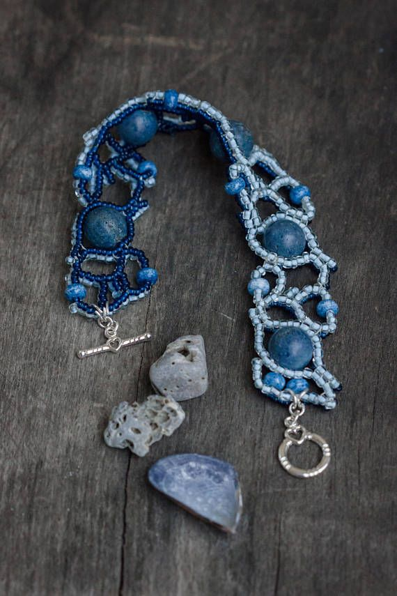 Two Sided Bracelet Double Sided Denim Blue Jeans Bracelet