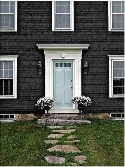 25 best ideas about mint door on pinterest mint paint colors exterior house colors and home - Exterior white trim paint pict ...