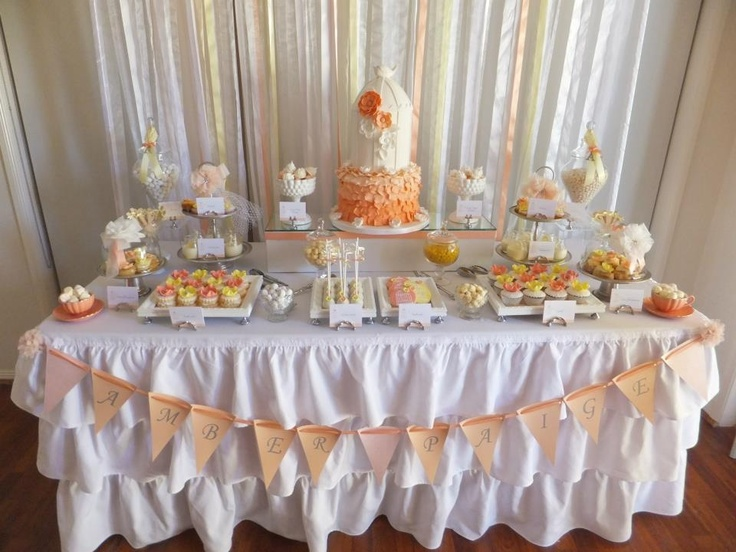 Dessert buffet styled by Ribbon Whirls for a Baptism  Www.ribbonwhirls.com.au