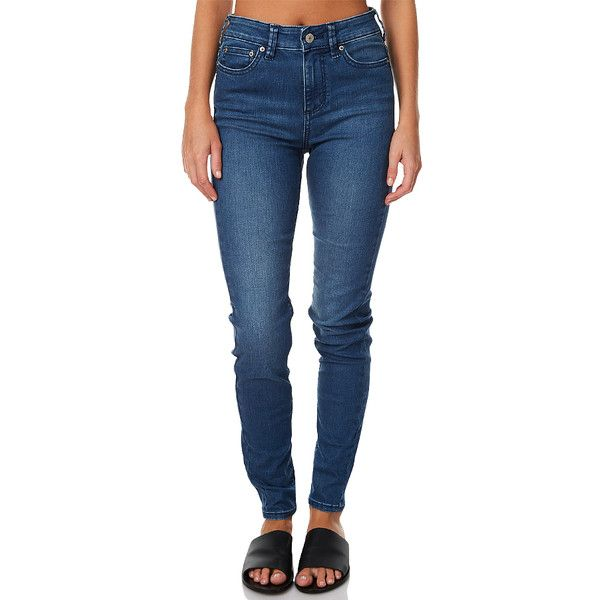 Riders By Lee Mid Vegas Womens Jean Blue ($53) ❤ liked on Polyvore featuring jeans, blue, women, lee jeans, leather skinny jeans, destructed skinny jeans, patched jeans and ripped skinny jeans