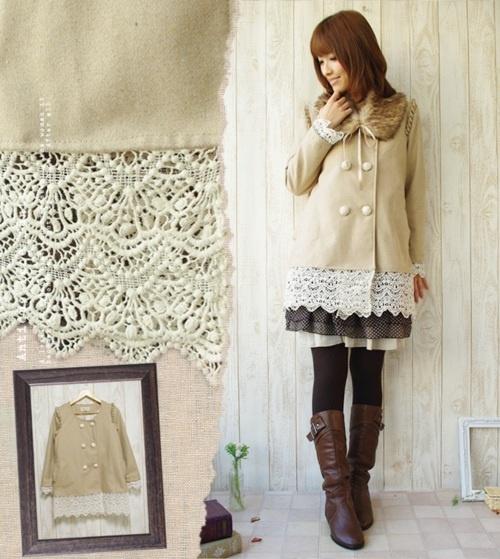 mori girl lace jacket how cute