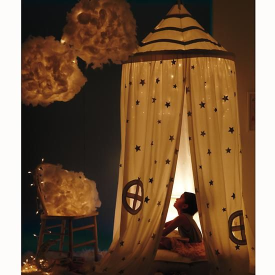 Home Sweet Play Home Canopy (Silver Stars) in New Toys and Gifts | The Land of Nod <- i *need* this (in adult size) please-and-thank-you
