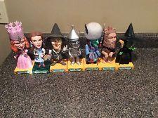 Wizard of Oz Funko Wacky Wobbler Lot 7 Bobbleheads Dorothy Glinda Wicked Witch