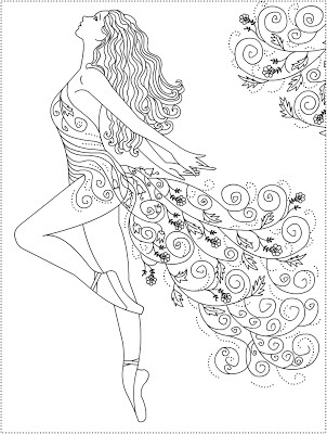 Free Coloring Pages Ballerina Primavera Ballet