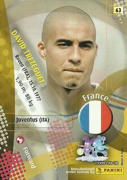 2002 Panini World Cup #63 David Trezeguet Back