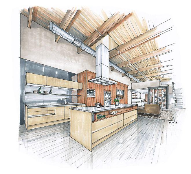 Innenarchitektur skizze küche  40 besten 手绘 Bilder auf Pinterest | Drawing, Skizzen und Skizze