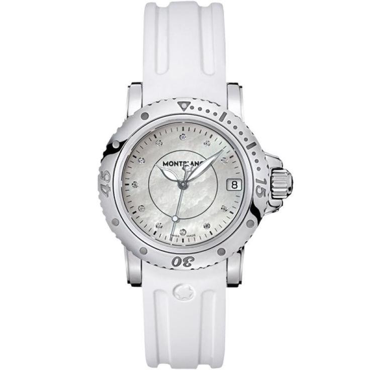 Женские часы Montblanc 103893 Sport Lady - белые - швейцарские женские наручные часы