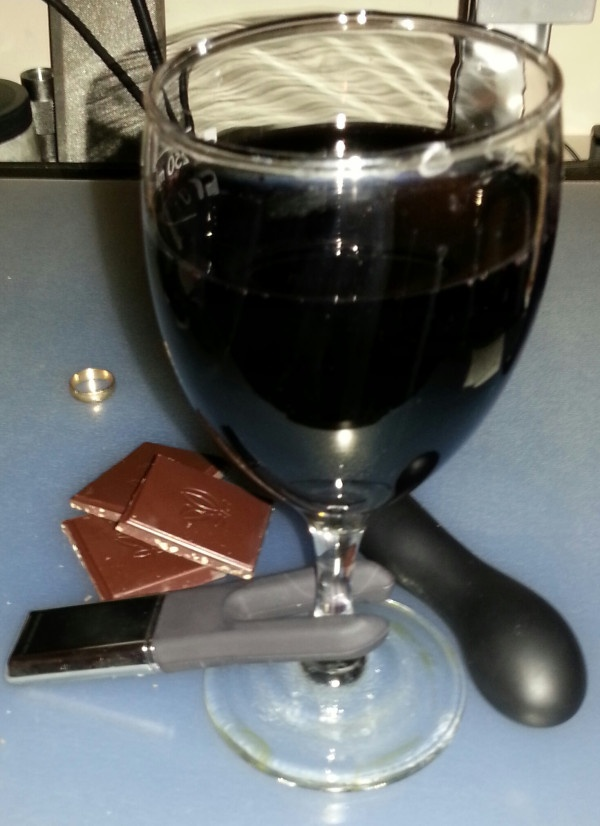 Tonights plan #sextoys #chocolate #wine