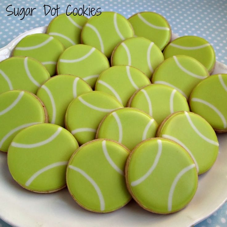 Sugar Dot Cookies: Tennis Ball Cookies
