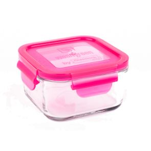 Wean Green - Glass Lunch Containers 16oz (490ml) - Raspberry