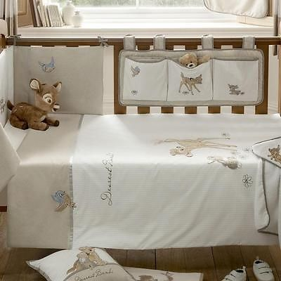Walt Disney Dearest Bambi Embroidered Baby Cot Bed Natural Nursery Quilt Duvet | eBay