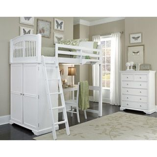 Shop for WALNUT STREET White Wood Locker Loft Bed, Storage and Desk. Get free delivery at Overstock.com - Your Online Furniture Outlet Store! Get 5% in rewards with Club O!