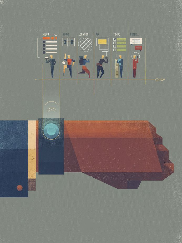제품/용도/상세설명/인포그래픽 Illustration / Wearables illustration by Dan Matutina  weird mode
