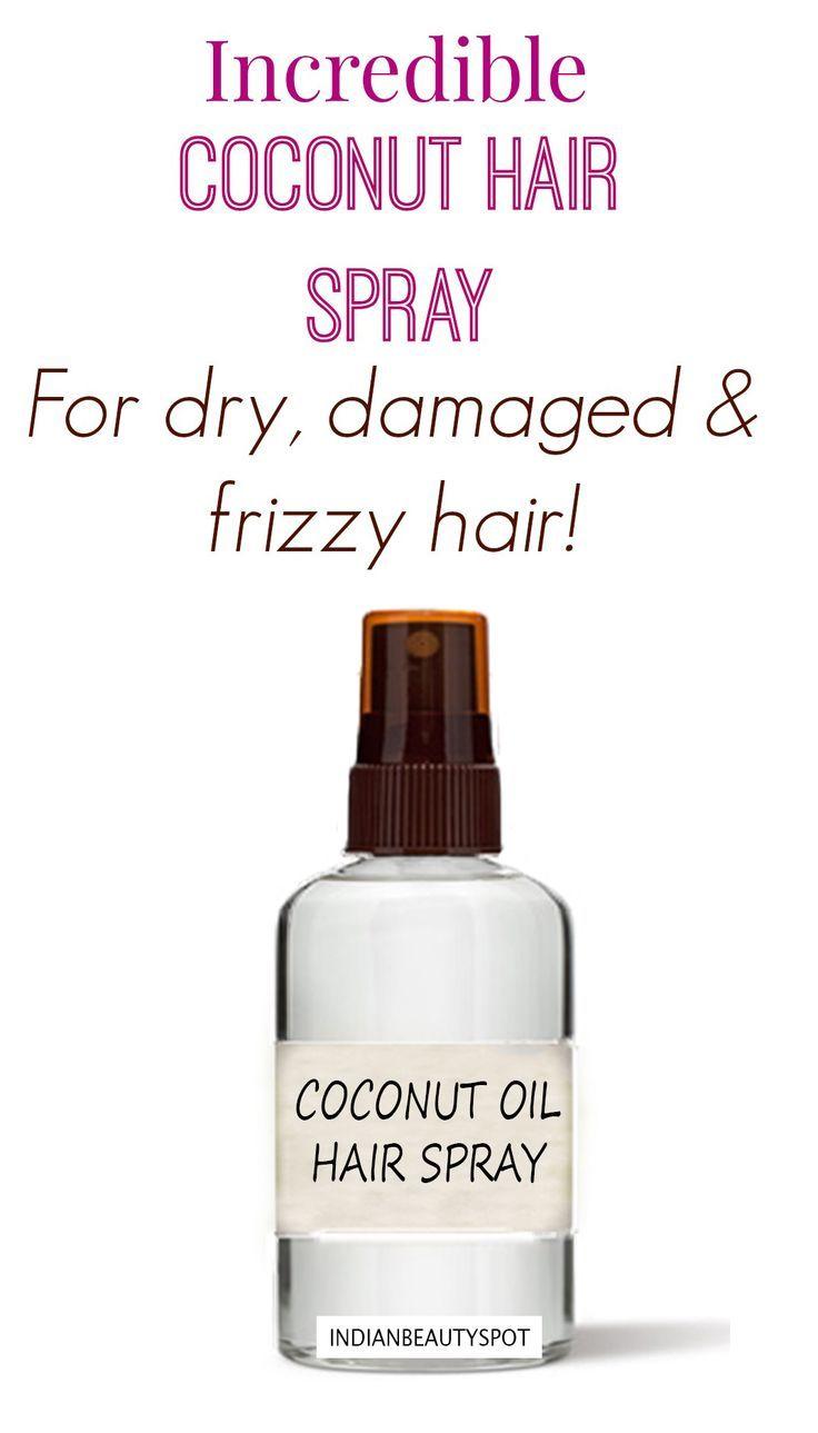 Coconut oil spray for hair