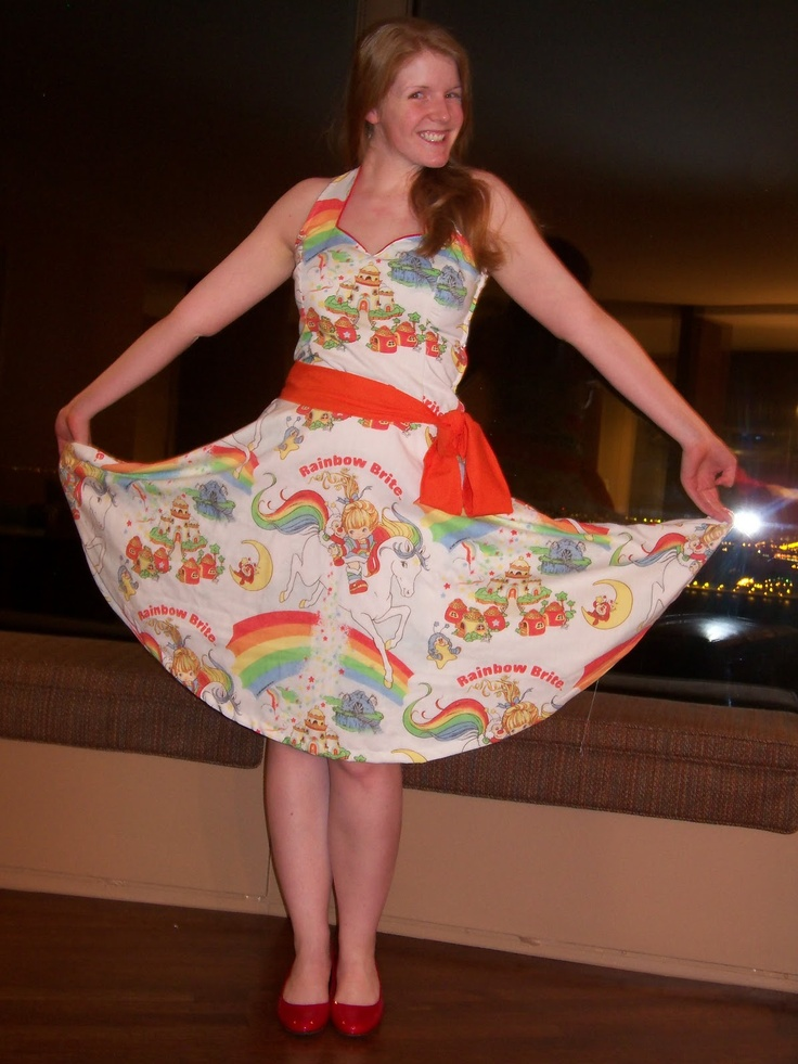 rainbow brite sheet dress had those sheets when i was a kid what a