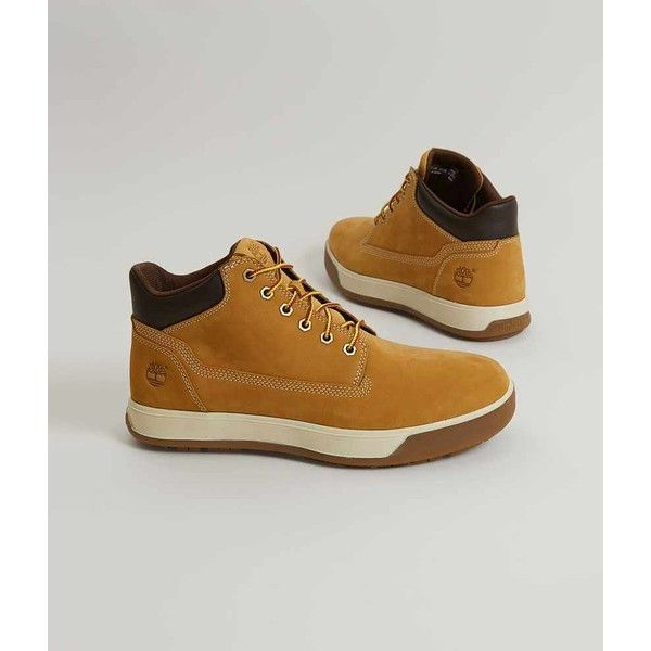 Timberland Tenmile Boot - Brown US 10 ($110) ❤ liked on Polyvore featuring men's fashion, men's shoes, men's boots, brown, mens leather shoes, timberland mens boots, mens brown leather lace up boots, mens short boots and mens brown shoes