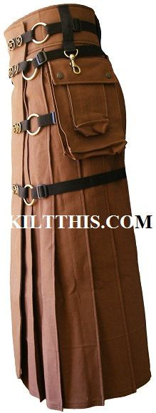 Full Length Modern Utility Kilt Contemporary Kilt INTERCHANGEABLE PARTS. $400.00, via Etsy. If I had 400 bucks to blow!