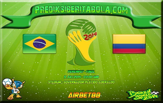 Prediksi Bola Brasil Vs Kolombia 5 Juli 2014