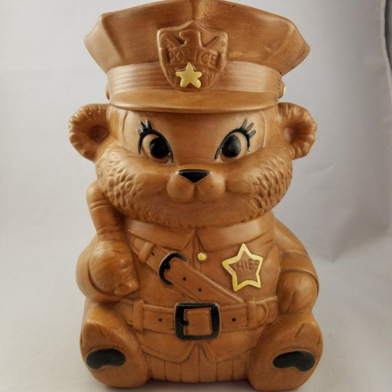 Vintage Twin Winton Brown Bear Police by Stuckinthe80sVintage