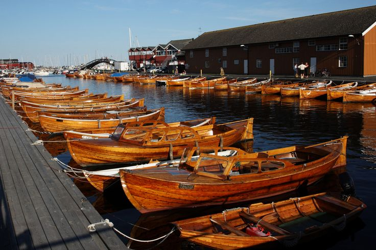 Wood boats, Stavern harbor