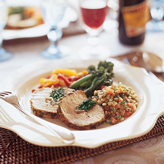 ... pork loin lemon and prosciutto stuffed pork loin roast with broccolini
