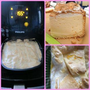 Tränchenkuchen im Airfryer Rezept: Mehl,Ei,butter,Zucker,Backpulver,-----,Quark,Milch,Vanille,2Eigelb,Zitrone,----------,Eiweiß,Zucker