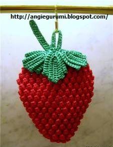 Para realizar esta linda fresa la pueden hacer siguiendo el diagrama de forma circular y les quedará redondita o si lo prefieren como en la ...