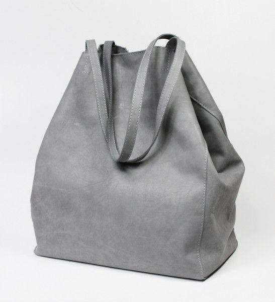Nordic Shopping Bag Grey Leather by Zuzia Górska // Torba Nordic z szarej skóry (Zuzia Górska)