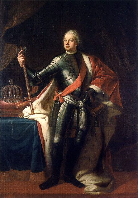 """Friedrich Wilhelm I, who reigned over Prussia from 1713 until 1740. A military fanatic who gained (deservedly) the nickname of """"Soldatenkönig"""". He introduced universal primary education so that his soldiers could read and write. In 1720 he built the city's first major hospital and medical school, the Charité, now the largest teaching hospital in Europe. Under Friedrich Wilhelm I the city was mainly a garrison and an armoury. The crown heavily subsidised arms manufacturers in the capital…"""