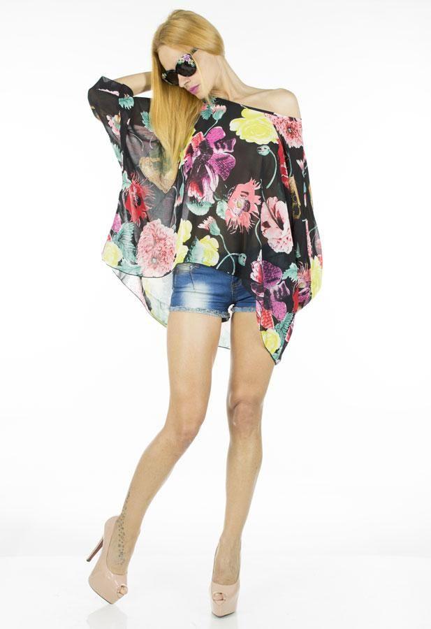 Bluza Dama Beauty  Bluza dama semitransparenta,din material fin ce cade lejer pe corp. Model inspirat ce poate fi purtat cu usurinta. Design modern ce poate fi purtat in sezonul cald.     Compozitie:100%Poliester