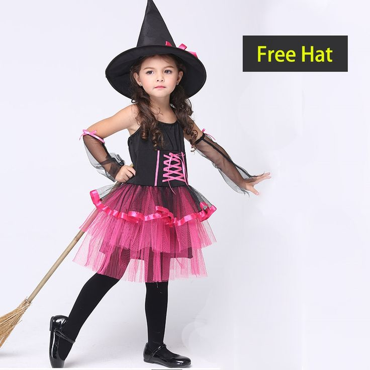 19.32$  Watch here - http://alikh4.shopchina.info/go.php?t=32749872309 - Novel Halloween Cute Witch Costume For Girls Kids  Play Cosplay Performance Dance Show Halloween Costumes  19.32$ #aliexpressideas