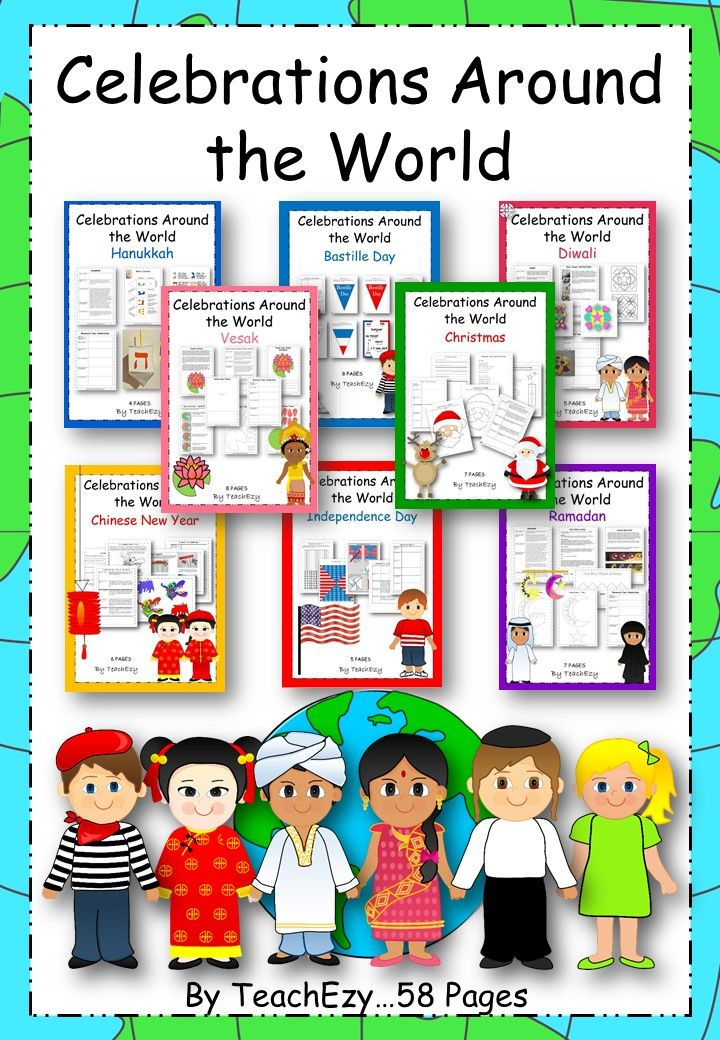 For each celebrations you can use the research scaffold to help children look for and record information to present in any form such as an information report, poster, slide show, etc. We have also provided the same scaffold with brief background information for each celebration. Before looking at the different celebrations, use our chart to record the celebrations that the children in your class know and/or are involved in. After studying celebrations, use the reflection sheet to assess…