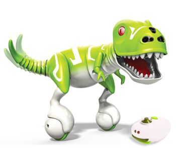 Zoomer Dino is an interactive remote control dinosaur who is fun to be around, and is always up for playing. This incredibly sociable dinosaur has been smartly designed to respond like a real life creature. He can mimic emotions to a certain level, and reacts to being touched and stroked. We might be hard pressed to keep up with him; this is what makes its interesting!