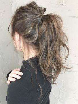 【Beleza小玉】ba814_グレージュハイライトバレイヤージュポニー - 24時間いつでもWEB予約OK!ヘアスタイル10万点以上掲載!お気に入りの髪型、人気のヘアスタイルを探すならKirei Style[キレイスタイル]で。