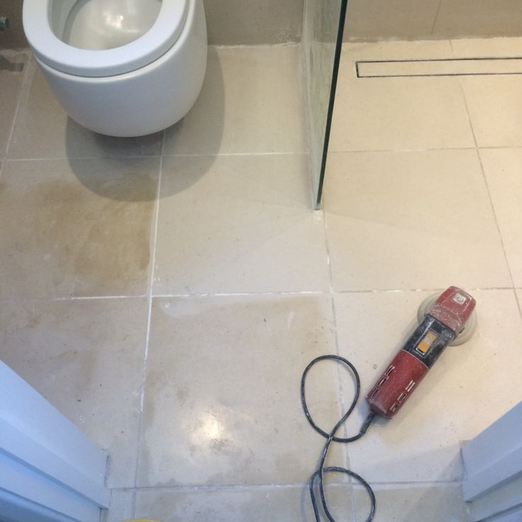 Limestone floor cleaning and diamond honing Surrey