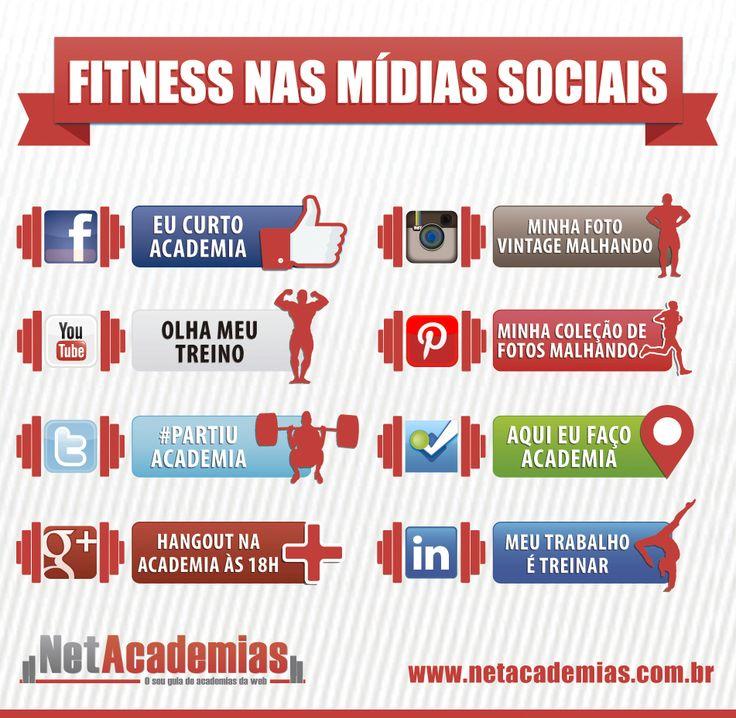 Fitness nas Mídias Sociais Confira o Infográfico fitness das redes sociais, compartilhe em suas redes  Copie o código abaixo e cole no seu site ou blog para incorporar a imagem  :