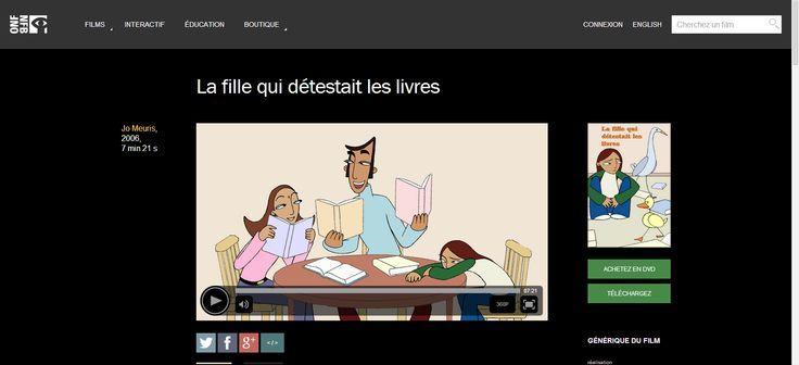 La fille qui détestait les livres ,La by Jo Meuris - ONF (court-métrage)