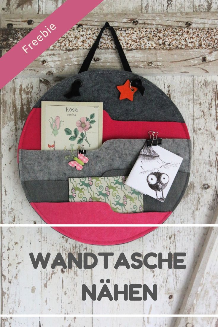 Hygge-Stil: Wandtasche aus Filz nähen